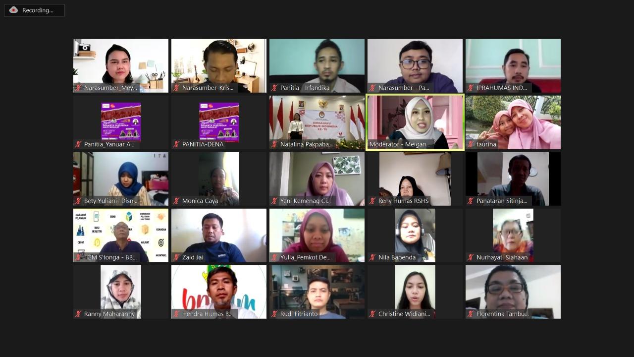 Iprahumas-Abdi Negara Muda Gali Inovasi Komunikasi Publik Prahum di Masa Pandemi
