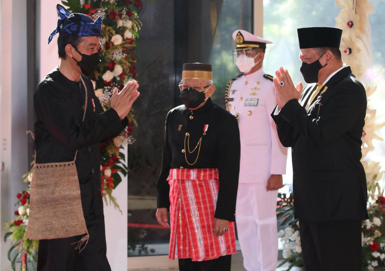Berbaju Adat Baduy, Presiden Sampaikan Pidato Kenegaraan di Gedung Nusantara